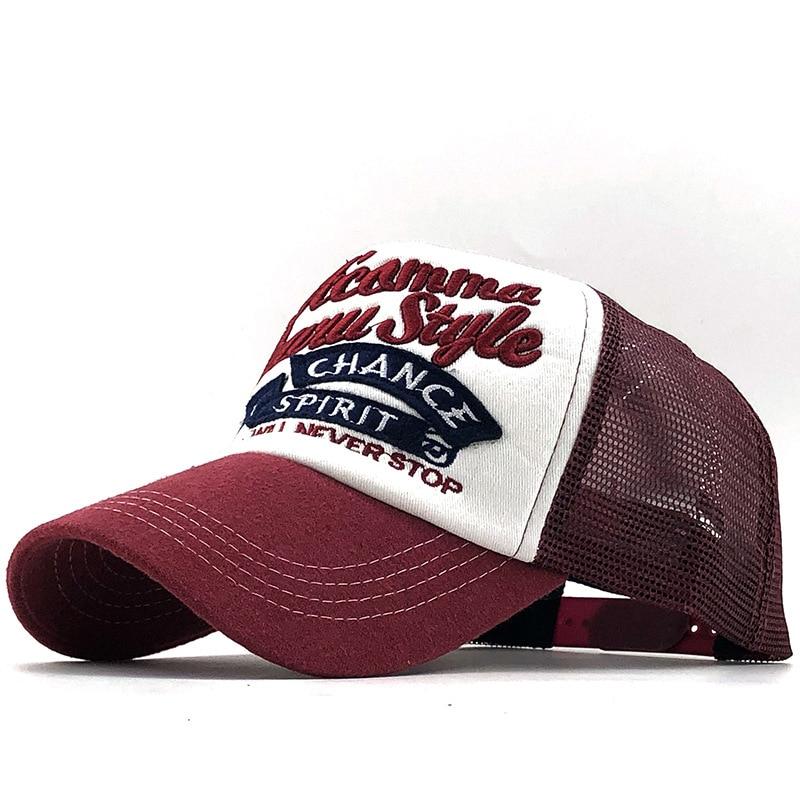 Angeln stickerei Baseball Kappe Männer Hysterese Mesh Caps Frauen Hüte Für Männer Casquette Knochen Casual Einstellbare Neue Sonne Hut Trucker