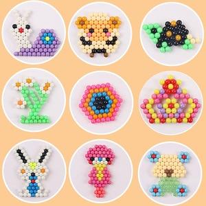 Image 3 - Enfants perles artisanat pour enfants 5200 pièces bricolage perles cristal matériel créatif enfants perles jet deau magique Puzzle jouets pour enfants,perle a repasser pour enfants jeux montessori educatif aquabeads