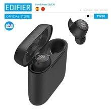 EDIFIER auriculares inalámbricos TWS6 con TWS, dispositivo Qualcomm, aptX, Bluetooth V5.0, con control táctil, a prueba de agua IPX5, hasta 32hr