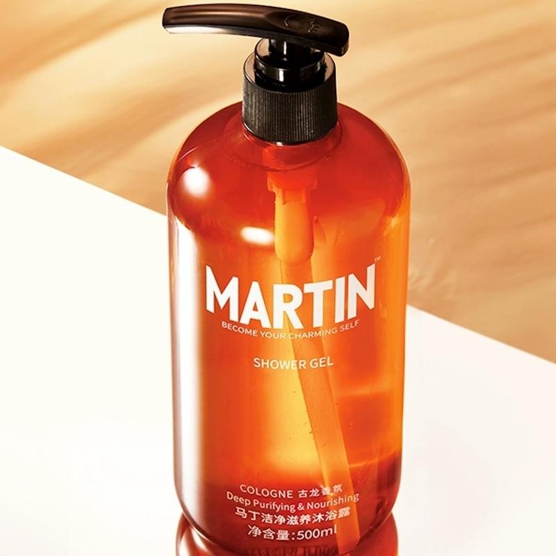 Men's Cologne Fragrance Shower Gel Moisturizing Body Wash Deep Cleaning Skin Whitening Shower Gel 500ml