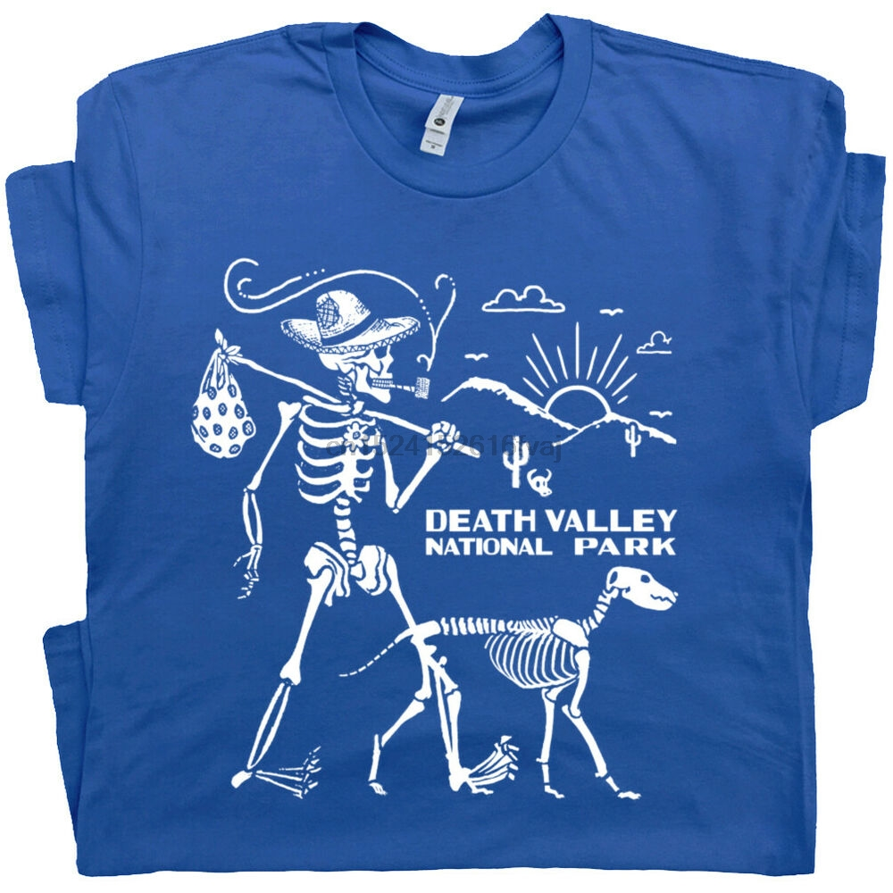 Футболка с изображением скелета долины смерти для пеших прогулок для мужчин и женщин в национальном парке шушушуа дерева