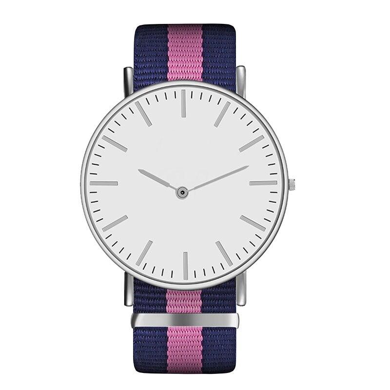 Hot Ultra Slim Quartz Watch Simple Nylon Band Relogio Masculino Fashion woman men Wristwatches 18 Styles
