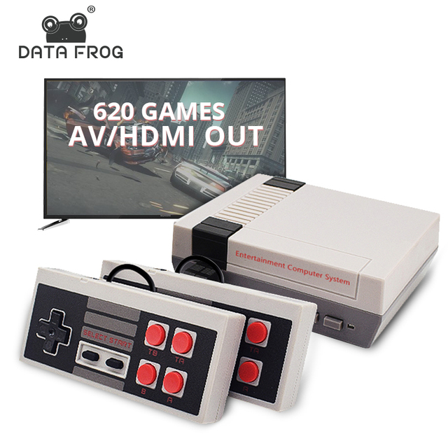 Veri kurbağa Retro Video oyunu konsolu AV/HDMI çıkışı TV konsolları dahili 620 klasik oyunlar çift Gamepad oyun oyuncu