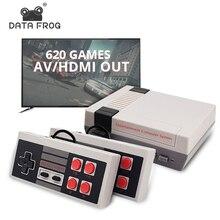 データカエルレトロビデオゲームコンソールav/hdmi出力テレビコンソール内蔵620クラシックゲームデュアルゲームパッドゲームプレーヤー