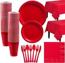 Festa nuziale di colore rosso del partito usa e getta partito da tavola tazza per anniversaire decorazioni della festa di compleanno forniture per gli adulti