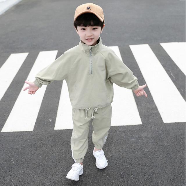 Pakian Set Anak Laki Laki Lengan dan Celana Panjang  3