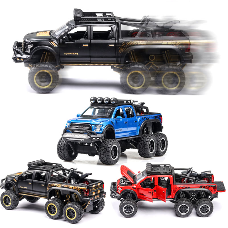 1:24 Ford F150 Car Model Alloy Car Die Cast Toy Car Model Pull Back Children's Toy Collectibles Free Shipping