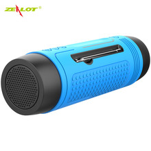 ZEALOT Wireless Bluetooth Speaker Waterproof Portable Outdoor Bass Column Loudspeaker FM Raido SD Card Aux Micro Hands-free(China)