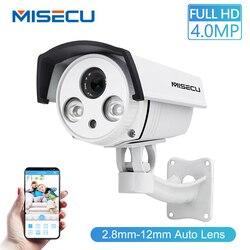 MISECU Auto Zoom lens 2.8-12mm 1080P 2.0MP 4.0MP FULL HD Array Camera Breed Dynamisch CMOS Onvif p2P Nachtzicht Camera Beveiliging