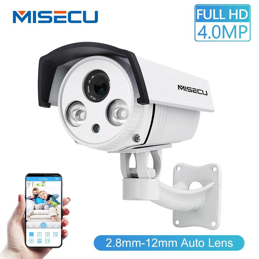 MISECU lente Zoom Auto 2.8-12mm 1080P 2.0MP 4.0MP FULL HD CMOS Onvif Matriz Camera Wide Dynamic p2P Night Vision Camera de Segurança