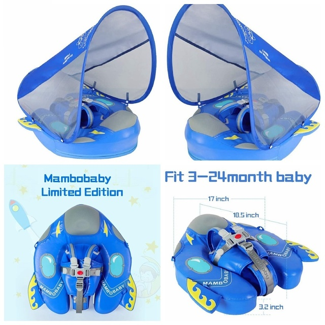Solid Non-inflatable Baby Swimming Ring floating Float Lying Swimming Pool Toys Bathtub For accessories Swim Trainer Sunshade 4