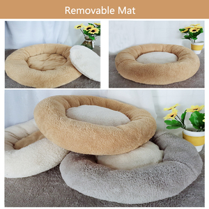 Image 3 - Round Cat Bed House  Soft Coral velvet Pet Dog Bed For Dogs Basket Pet Products Cushion Cat Pet Bed Mat Cat House Animals Sofa
