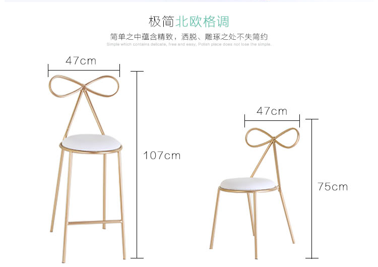 Купить с кэшбэком Nordic Golden Chair for Cafe Bar Butterfly Chair Iron Bow Metal Cafe Chair Outdoor Office Creative Lounge Chair Home Gold Decor