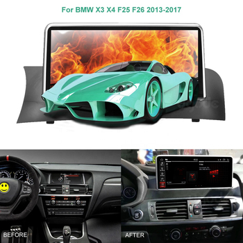 Car Multimedia Player GPS Navigation For BMW X3 F25 X4 F26 2011 2013 CIC Radio Stereo Px6 Processor Six Cores Android 9.0 Screen