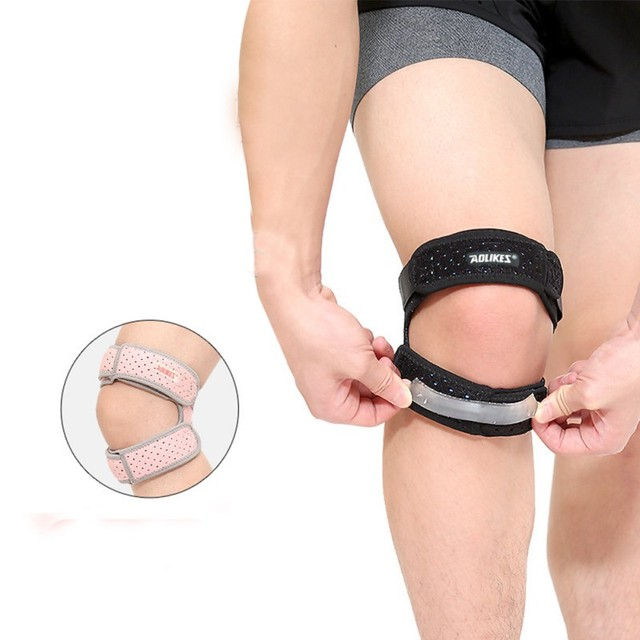 Sports 1Pcs Knee Support Brace Women Men Adjustable Knee Patella Sleeve Wrap Cap Sports Knee Breathable Protection Patellar Belt 2