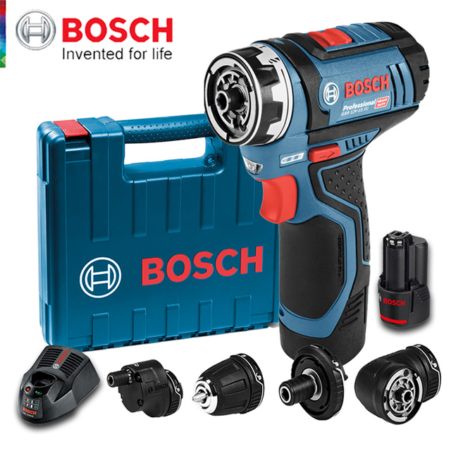 Bosch GSR12V Cordless Drill Electric Drill Wireless Power Driver Lithium-Ion Battery Screwdriver Drilling Machine With LED Ligh 1