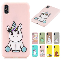 Unicorn Owl Panda Painted TPU Case For iPhone 11 Pro Max X XS XR XS Max Pro 5S 6 6S 7 8 Plus Funny Cartoon Phone Cases цена