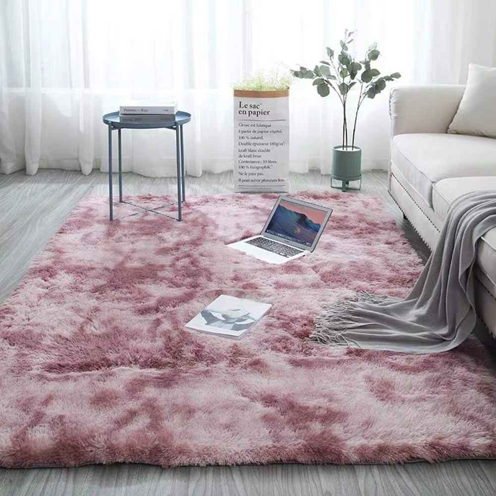 Moderns Abstract Rugs Mat Decor Bedroom Living Room Fluffy Shag Rug Plush Carpet LBShipping