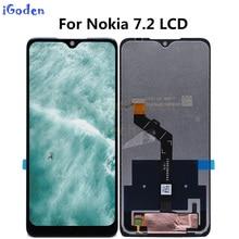"""6.3 """"עבור נוקיה 7.2 LCD תצוגת מסך מגע Digitizer עצרת החלפה עבור Nokia 7.2 LCD"""