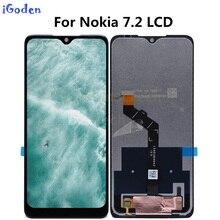 Pantalla LCD de 6,3 pulgadas para Nokia 7,2, montaje de digitalizador con pantalla táctil de repuesto para Nokia 7,2 LCD
