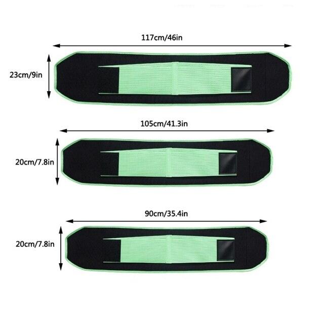 Waist Trimmer Belt Men Women Unisex  chloroprene rubber Weight Loss Sweat Band Wrap Tummy Stomach Sauna Sweat Belt 3