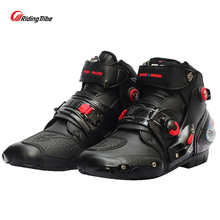 Boot Motorcycle-Boots Probiker Racing Shoes Microfiber-Leather Non-Slip Ankle 9001 Short