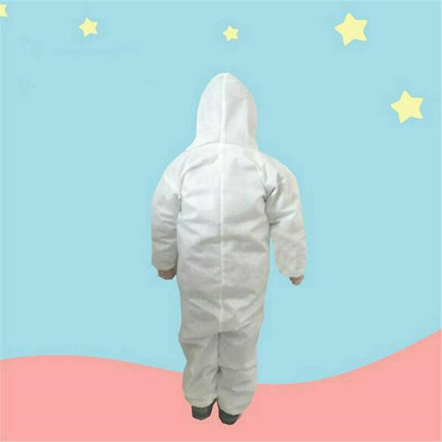 Anti-virus PPE Baby Kids Safety Clothing Dust Suit Disposable Overall Protection Clothing Fast Shipping 3