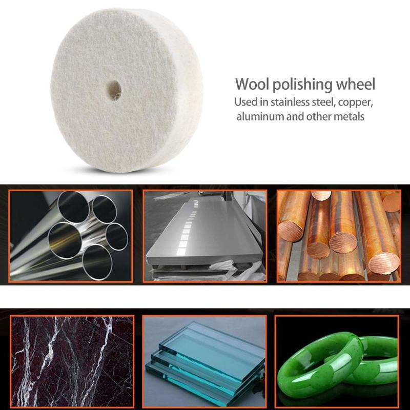 Cloth Polishing Mop Felt Wheel Thickening And Stiffening Wool Back Velvet Buffing Grinding Wheel Pad Abrasive Accessories