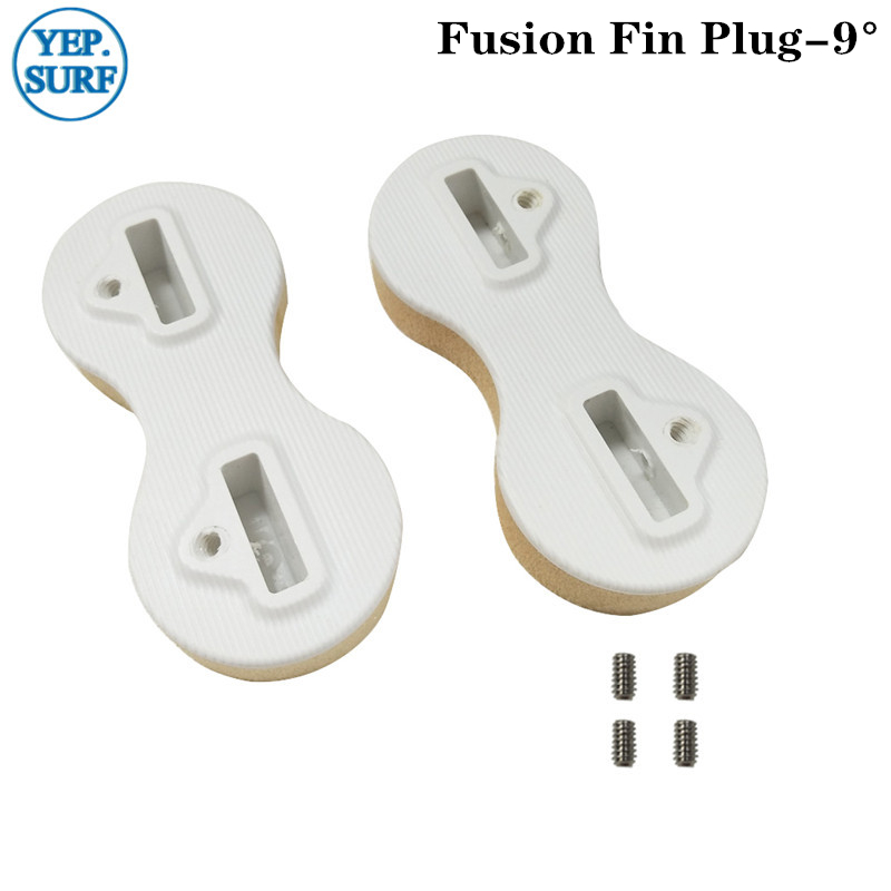 Surf Board Fin Plugs Plastic White 9 Degree FCS Fin Box