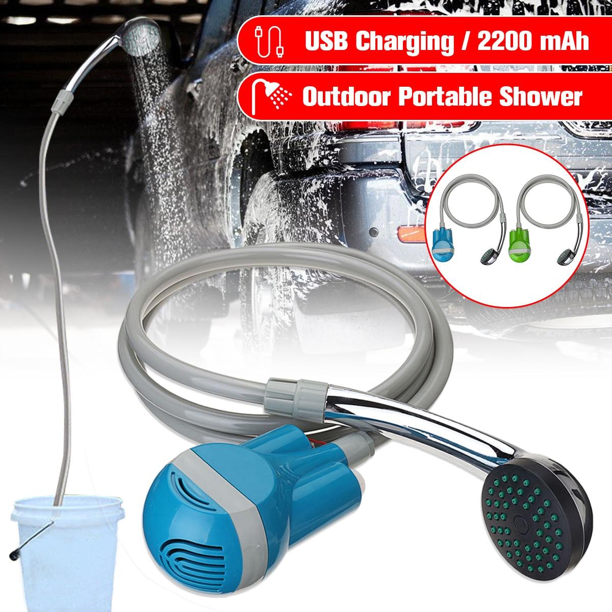 Portable Camping ShowerCar Washer 12V Wireless Car Shower DC 12V pump pressure shower Outdoor Travel Caravan Van Pet Water Tank