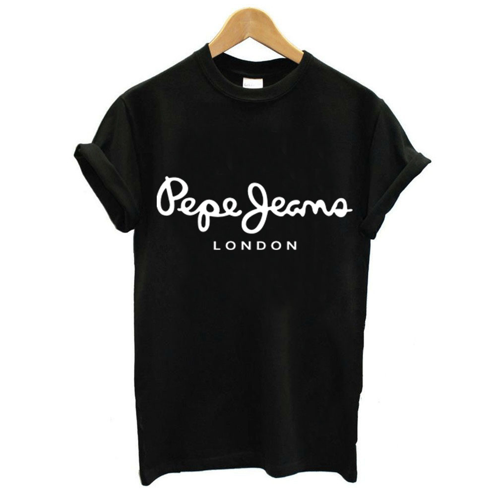 London Letter Print T Shirt <font><b>Women</b></font> Short Sleeve O Neck Loose <font><b>Tshirt</b></font> 2019 Summer Fashion <font><b>Women</b></font> Tee Shirt Tops image