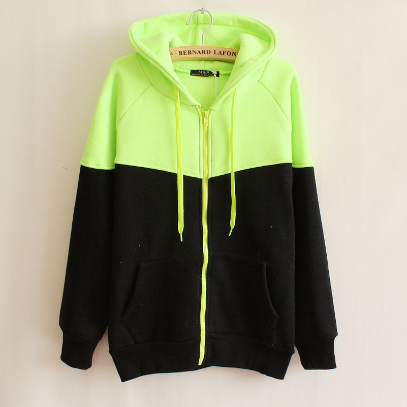 Patchwork Hoodies Sweatshirts EuropeTops 2019 Women Casual Kawaii Harajuku Kpop Sweat Punk For Girls Clothing Korean