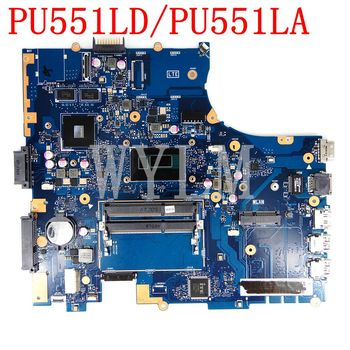 PU551LD Motherboard I5 CPU GT820M/1G Mainboard For ASUS PRO551L PU551LD PU551LA PU551L PU551 Laptop Motherboard 100% Tested OK