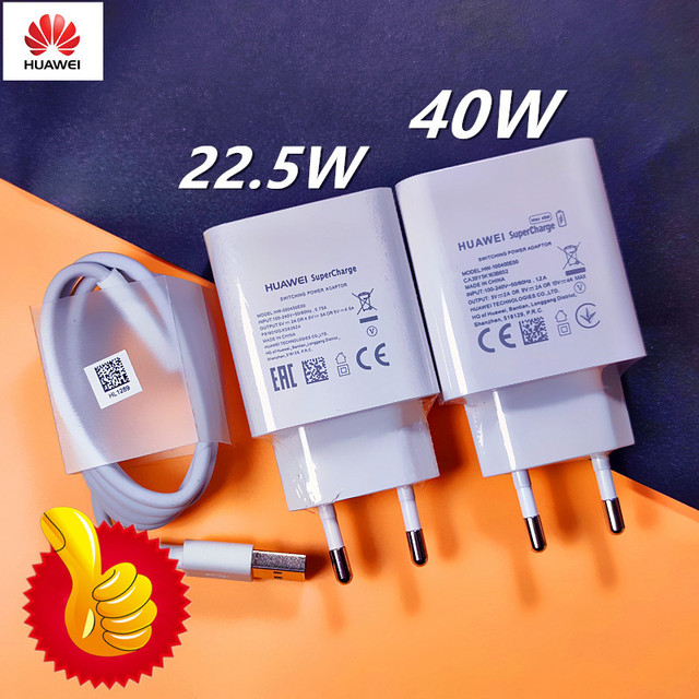 Original HUAWEI Fast Charger 40W 22.5W Supercharge Type C Cable For HUAWEI P30 P40 P10 P20 Pro lite Mate 9 10 Pro Mate 20 V20 1