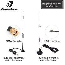 מגנטי אנטנת רכב להשתמש 4G Lte אנטנה למגבר אות 3dBi 3G אנטנת GSM חיצוני מגנט אנטנה & SMA נקבה 1.5/3M כבל