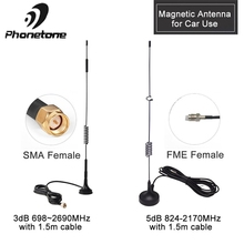 Magnetic Antenna Car Use 4G Lte Antenna for Signal Booster 3dBi 3G Antenna GSM Outdoor Magnet Antenna & SMA Female 1.5/3M Cable