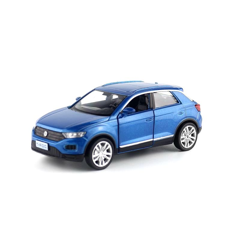 RMZ City/1:36 Scale Diecast Model/Volkswagen T-Roc SUV/Educational Collection/Pull Back/Doors Openable/Toy Car/Gift For Children