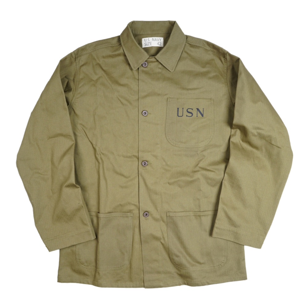 WWII WW2 US Navy USN jacket Trench Coat Retro Cotton Satin Uniforms