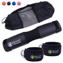 Fitness Schaum Barbell Pad und Ankle Strap Set für Widerstand Booty Gym Gewicht Hebe Hip Schub Squat Hals Schulter Schutz