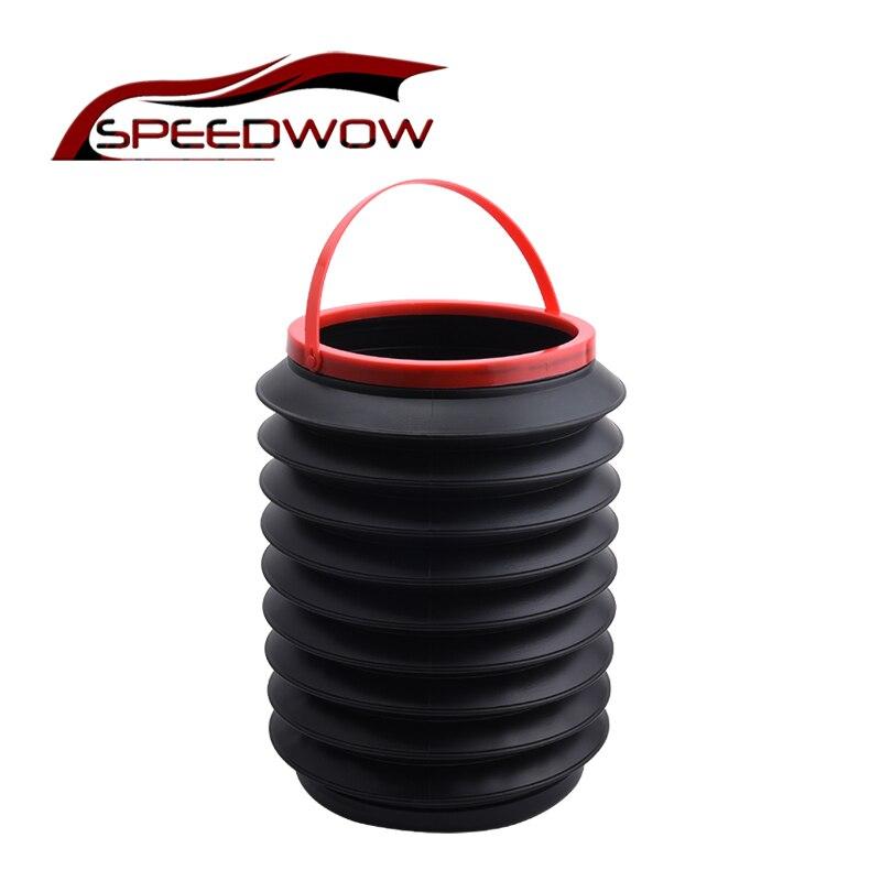 SPEEDWOW Durable Car Trash Bin Pop-up Collapsible Storage Box Car Trash Can Universal 4L Multifunction Storage Bucket