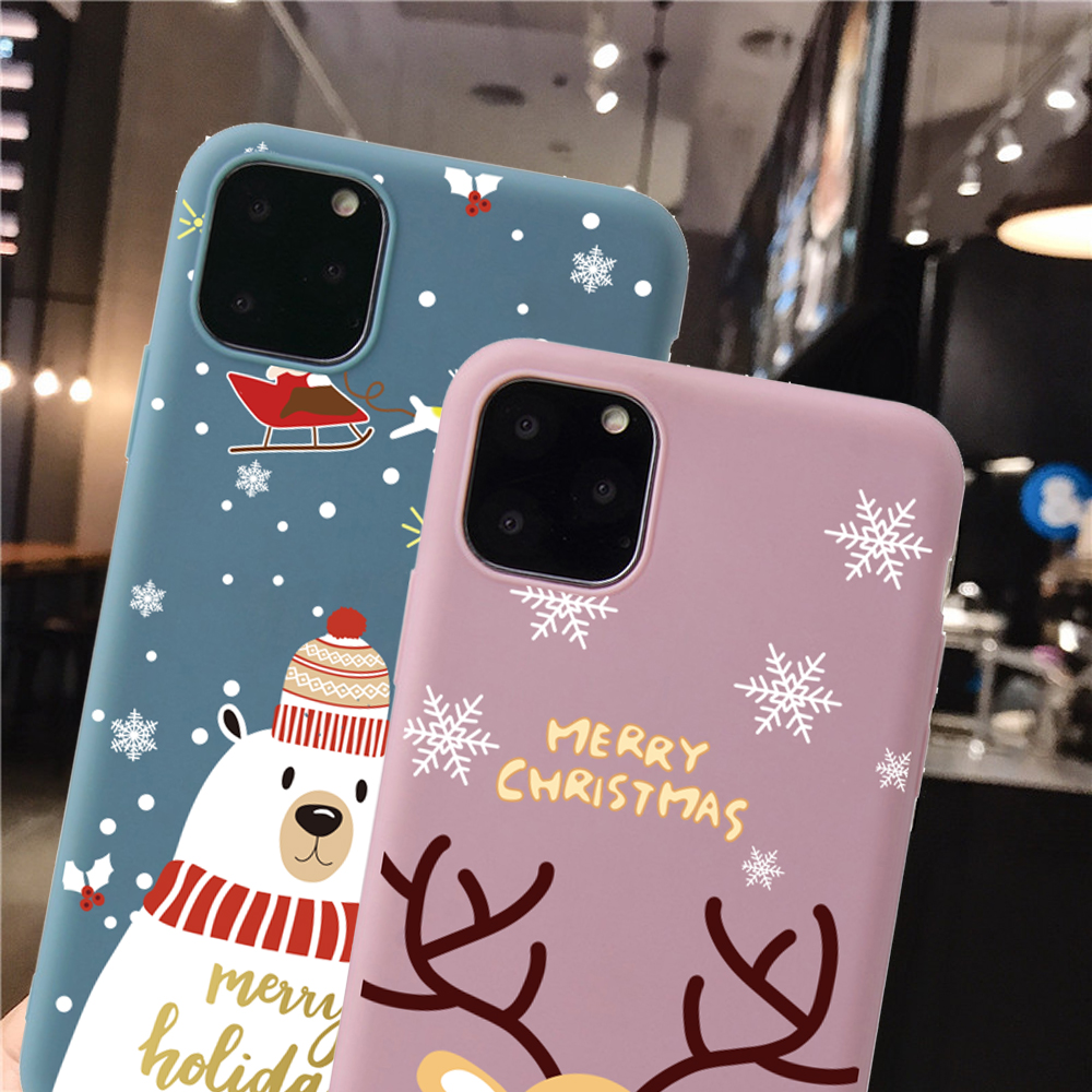 Christmas New Year Cute Phone Case For iPhone 12 Pro