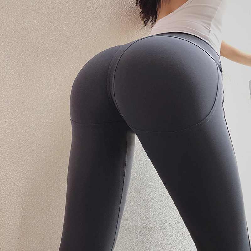 セクシーな女性のヨガパンツフィットネスハイウエストソリッドスポーツレギンスためのアスレチックロングタイツ女の子ジムランニングトレーニングズボン