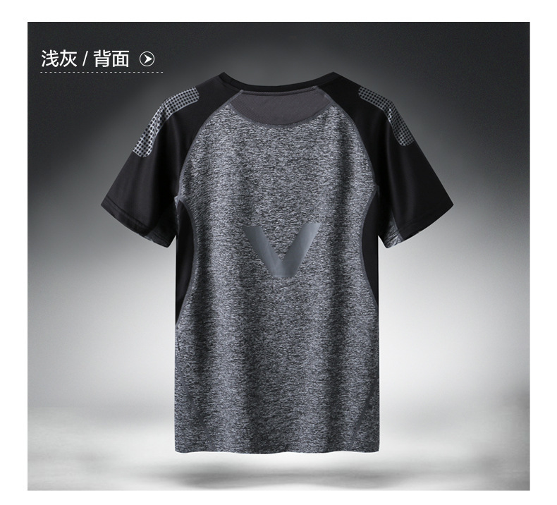 H56121e86d49042eb8a9565601acaa3ccH - Quick Dry Sport T Shirt Men Short Sleeves Summer Casual Cotton Plus Asian Size M-5XL 6XL 7XL Top Tees GYM Tshirt Clothes