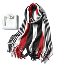 2019 New women scarf fashion knit winter cashmere imitation scarves lady shawls soft long size scarfs striped foulard bandana