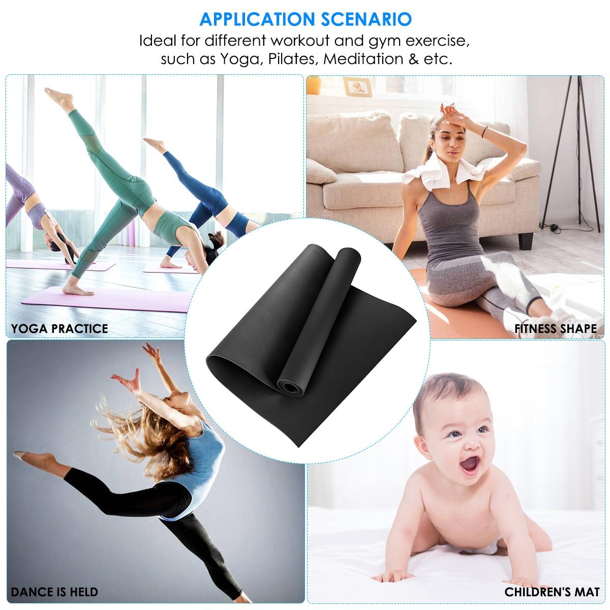 US Stock Yoga Mat EVA Non-Slip Fitness Pad Workout Gym Pilates Tool Exercise US