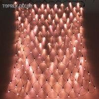 Toprex ouro Rosa net 1.5x1.5m luz natal decoração da árvore de natal do diodo emissor de luz ao ar livre conduziu luzes de fadas diwali decoração guirlanda|Fios de iluminação| |  -