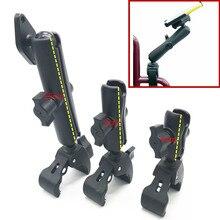 """Bras à Double douille et support de fauteuil roulant à griffe dure de 1 """"en caoutchouc avec plaque diamantée pour Garmin Gopro"""