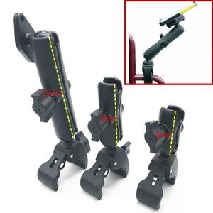 """Image 1 - Podwójne ramię i 1 """"gumowa piłka mocny uchwyt na wózek inwalidzki z płytka na diamenty dla Garmin Gopro"""