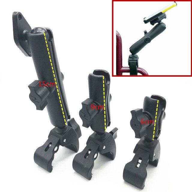 """Podwójne ramię i 1 """"gumowa piłka mocny uchwyt na wózek inwalidzki z płytka na diamenty dla Garmin Gopro"""