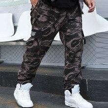 Loose Pants Causal Military-Trousers Multi-Pockets Camo Joggers Men Men's Cotton FALIZA